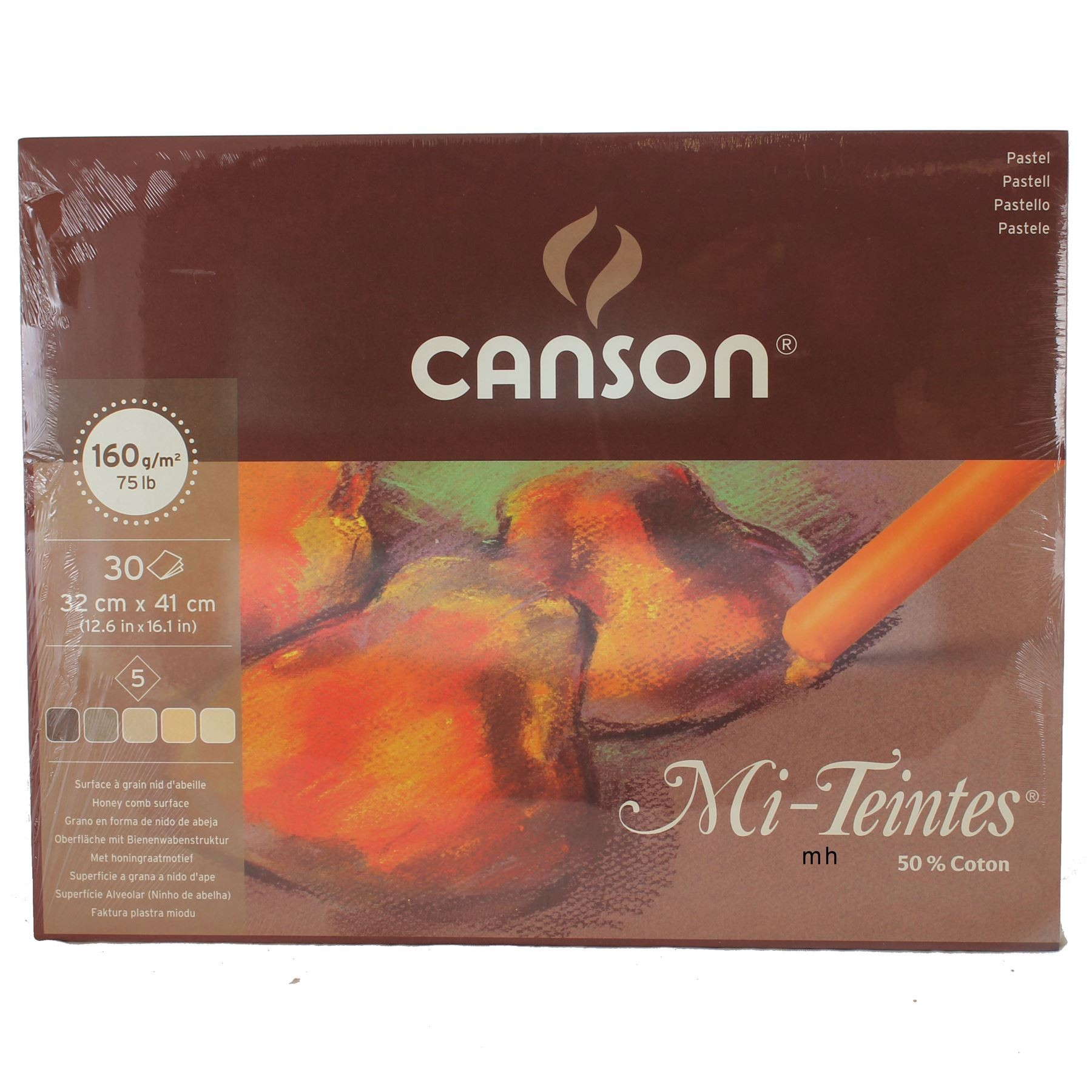 Canson Artists Large pastel paper pad Mi Teintes earth tones tones