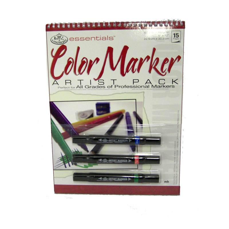 Large Colour Marker Artist Pack - 3 Large Double-End Markers