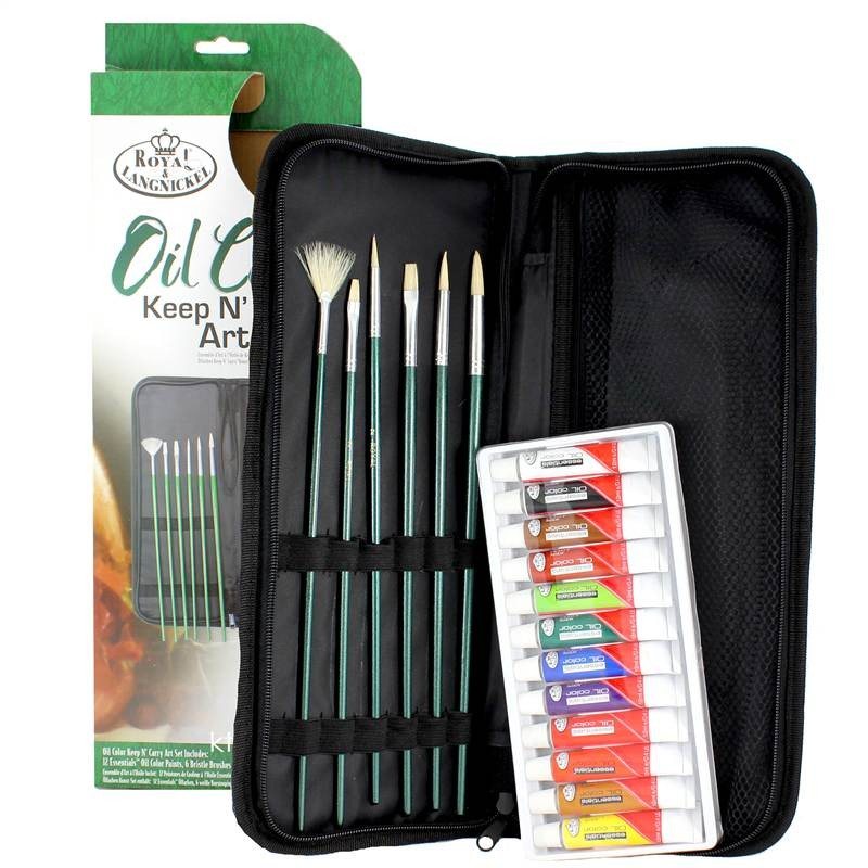 Royal & Langnickel Oil Colour Keep n Carry Art Set - 19 Piece Set