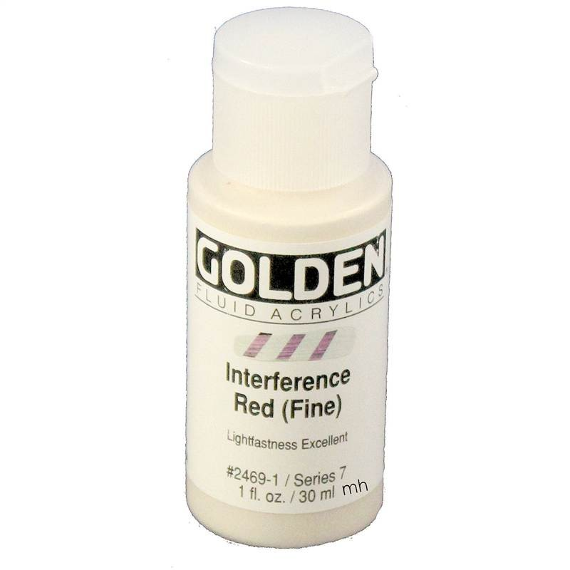 Golden Fluid Acrylic Medium 30ml - Interference Red (Fine)