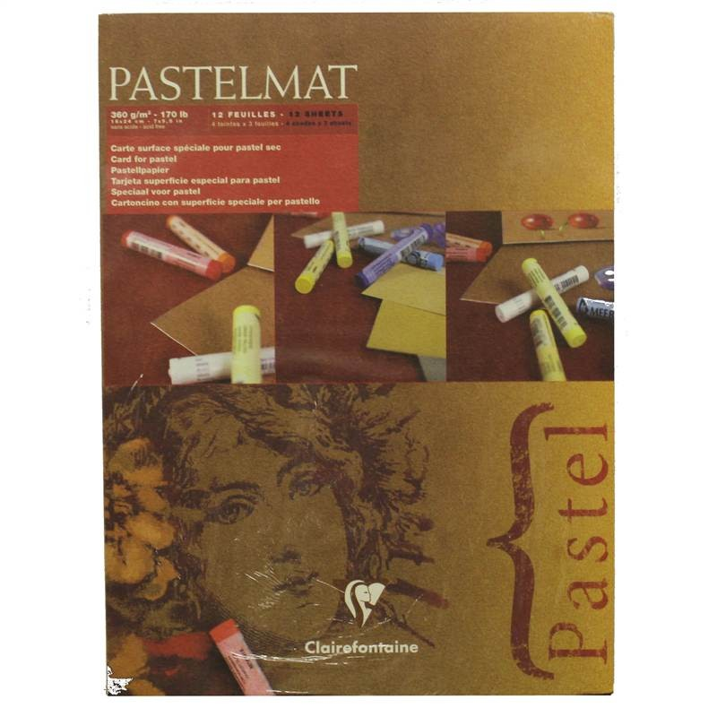 "Clairefontaine Pastelmat Pad 4 Shades 360g 18""x24"" 12 Sheets"