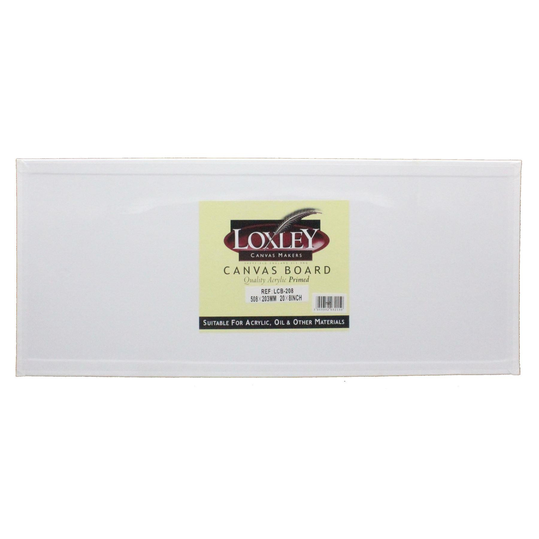 """Double Primed Acrylic Canvas Board from Loxley 20 x 8"""""""