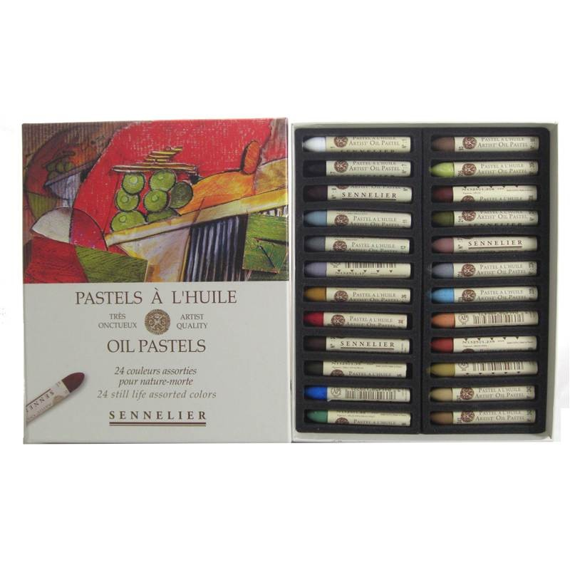 Sennelier Oil Pastels - 24 Still Life Assorted Colours