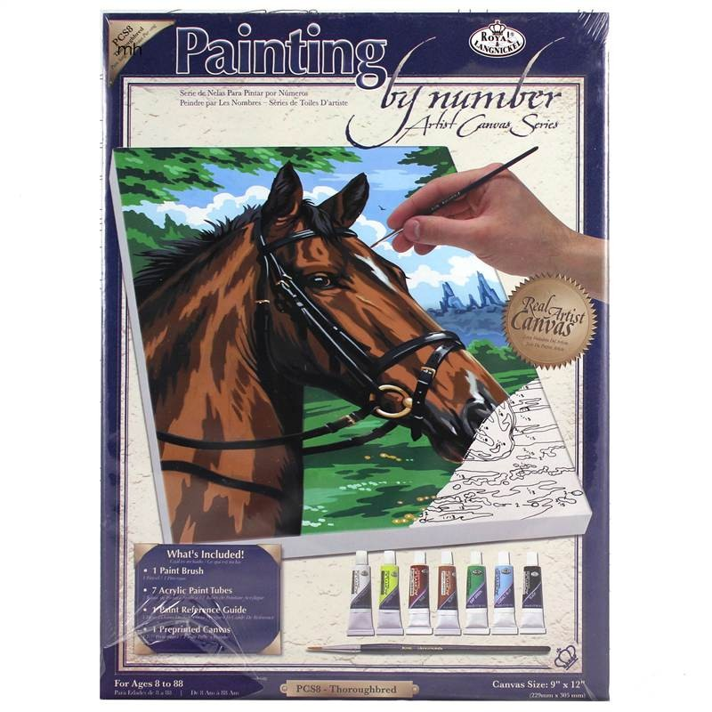 Royal & Langnickel Thoroughbred Horse Head Painting by Numbers Artist Canvas Series