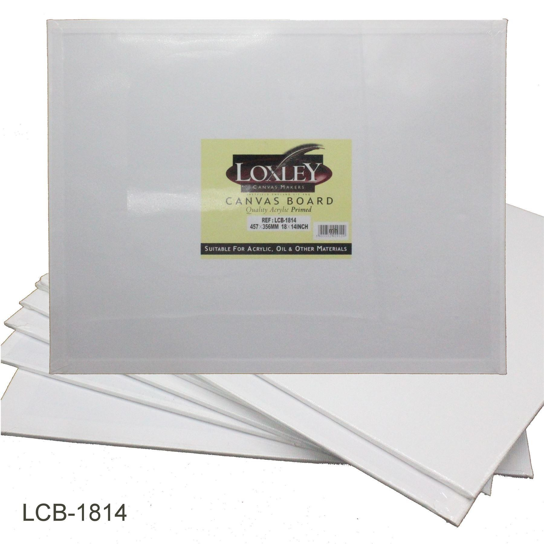 "Loxley Double Primed Acrylic Canvas Board 18"" x 14"""