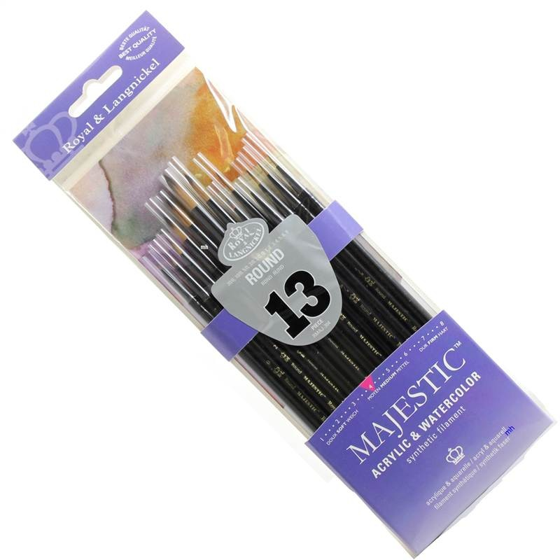 Majestic acrylic and watercolour brushes from Royal and Langnickel