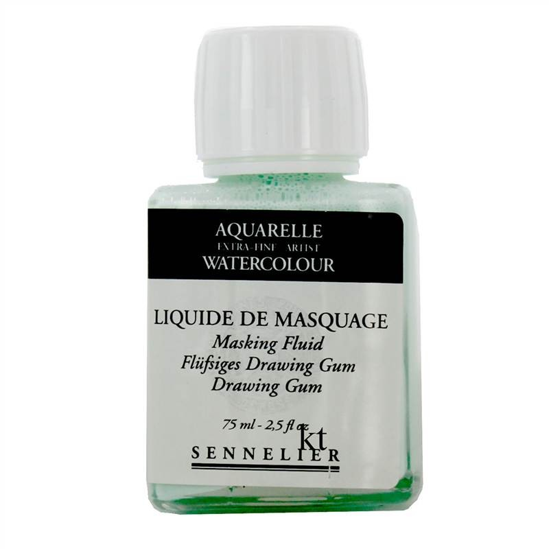 Sennelier 75ml Masking Fluid - Drawing Gum  Aquarelle Extra Fine Artist Watercolour
