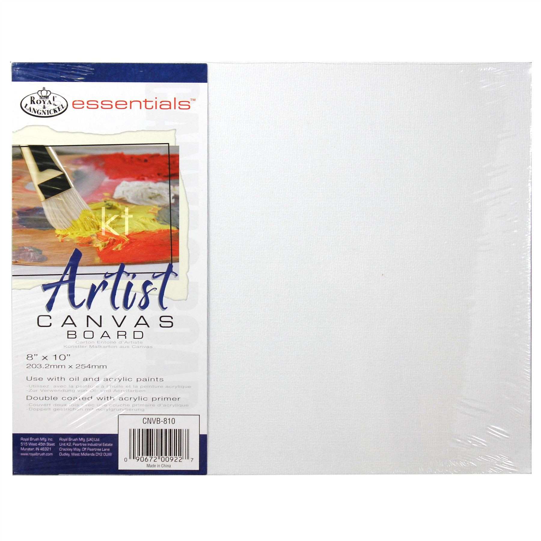 "Canvas board 8""x10"" from Royal and Langnickel"