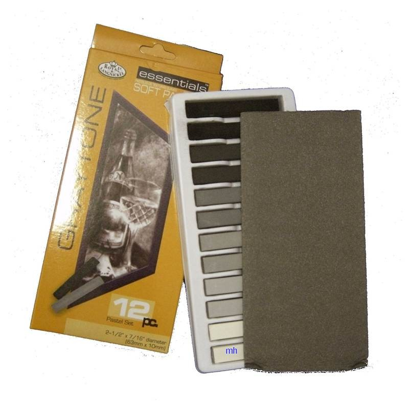 Royal & Langnickel 12 Grey Toned Soft Pastels