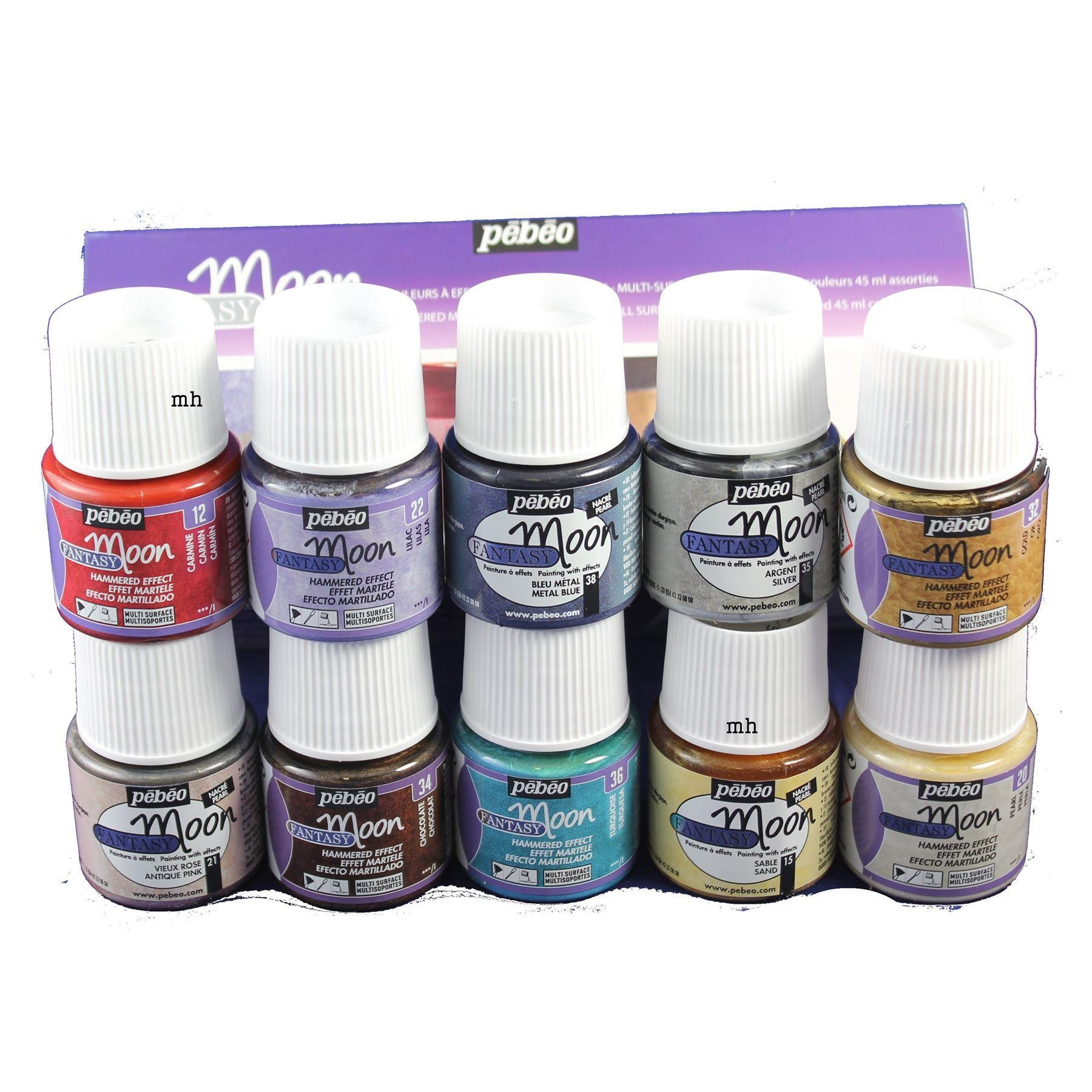 Fancy moon by Pebeo 10 assorted colours 45 mL pots