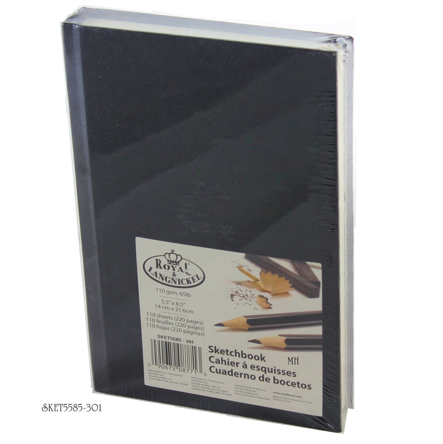 Royal and Langnickel Black Hard Back Cover Sketchbook