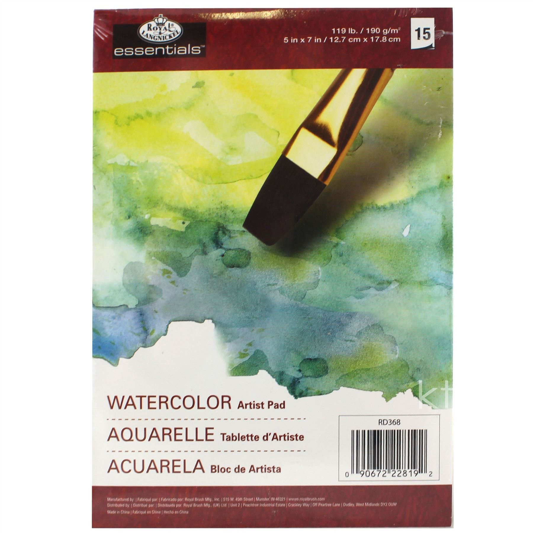 Royal and Langnickel Watercolour Artists Pad Small