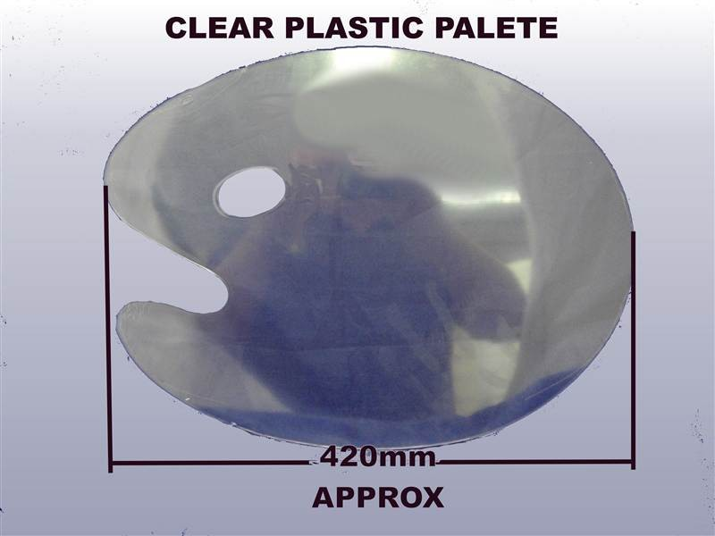 Large Clear Kidney Palette