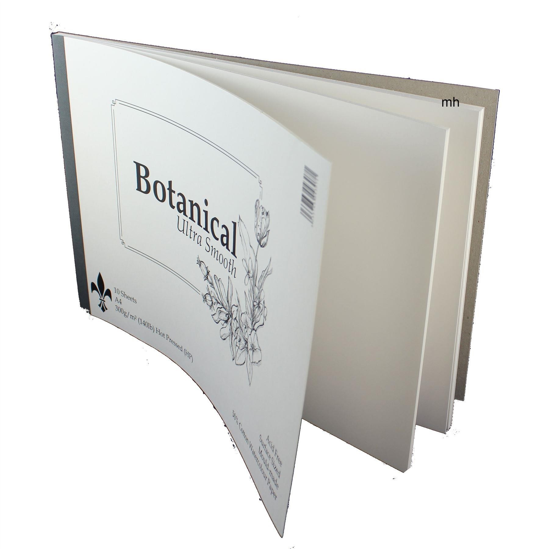 Botanical Ultra Smooth A4 Watercolour paper pad 300gsm