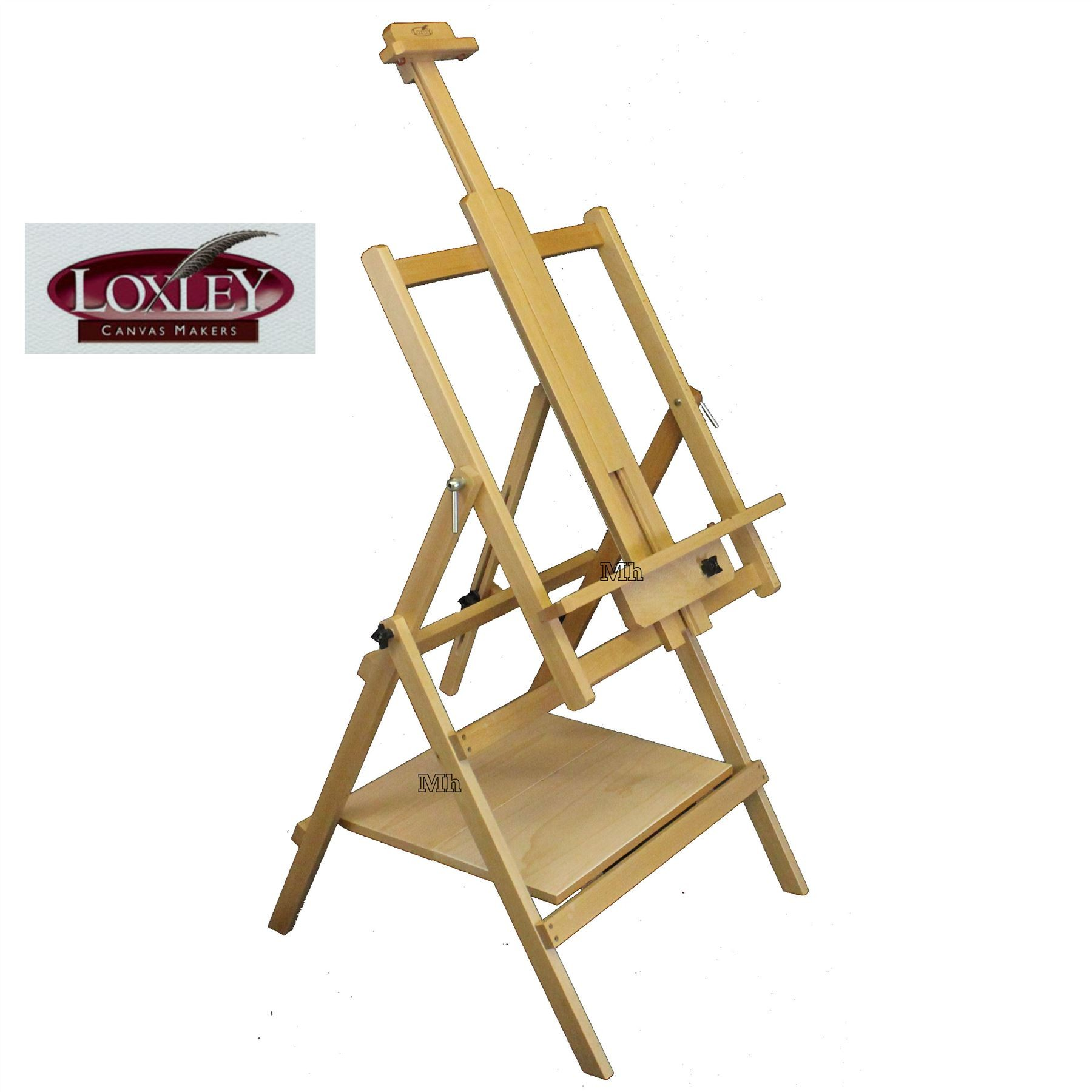 Loxley Essex Large Artists Wooden Studio painting Easel all media angle top