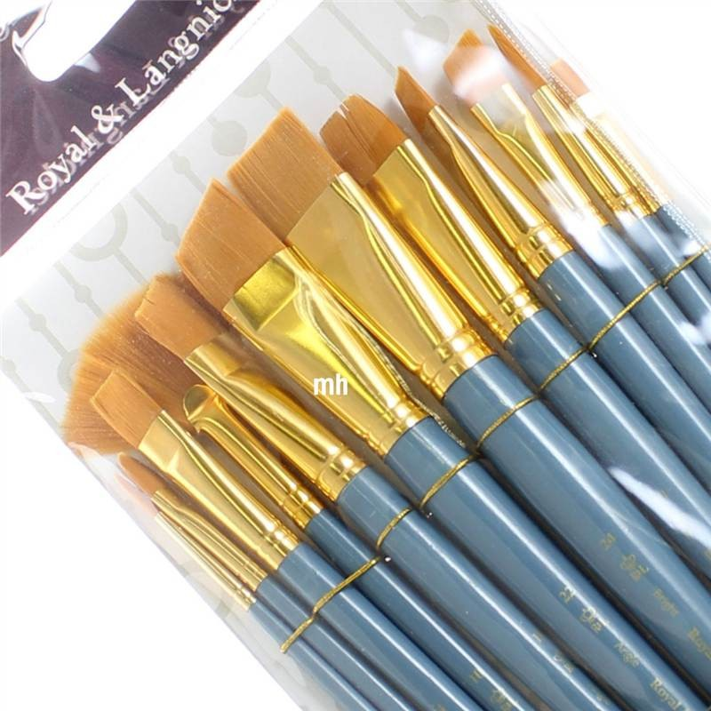 Royal and Langnickel 12 Brush Gold Taklon Set 7