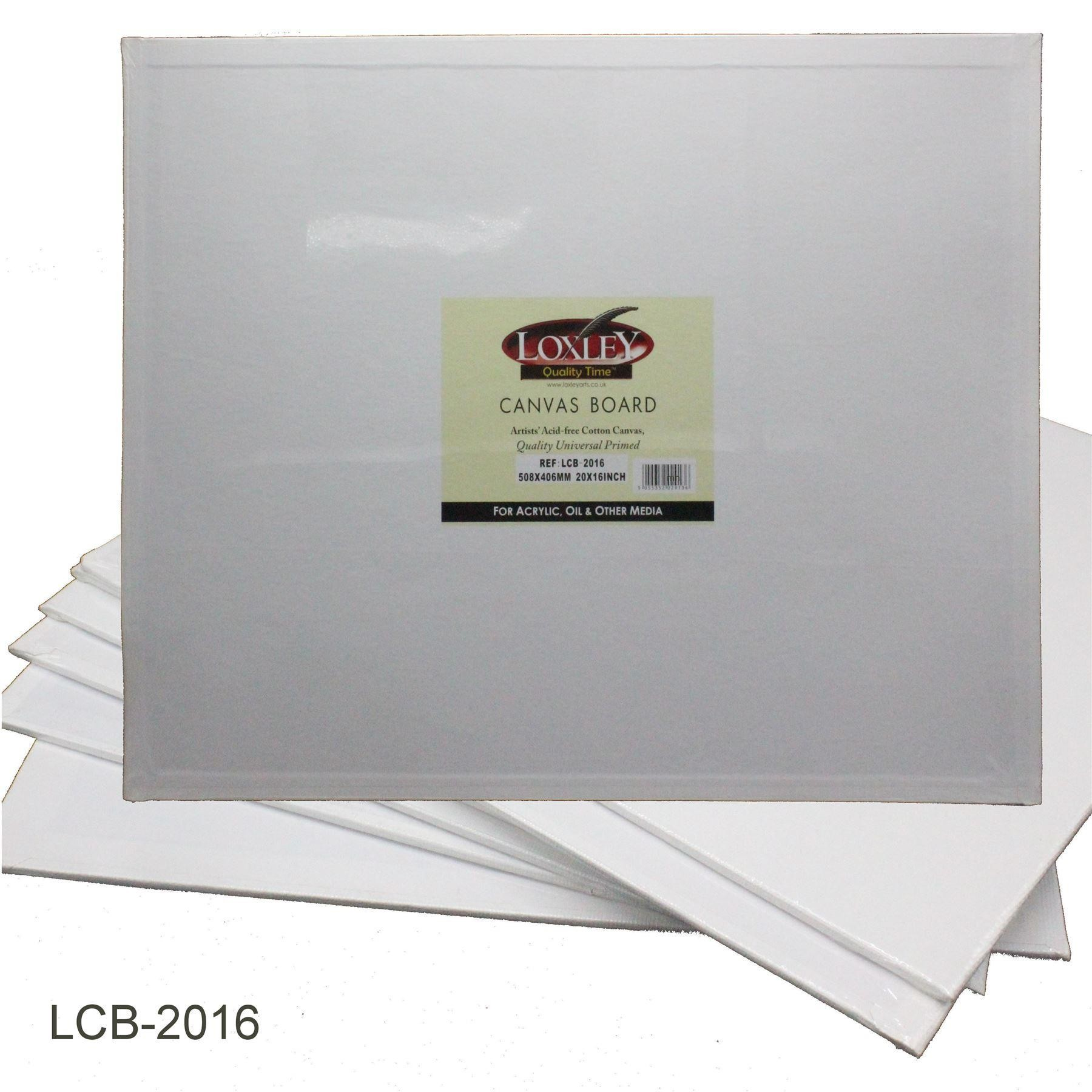 """Loxley White Double Primed Artists Canvas Board - 20x16"""""""