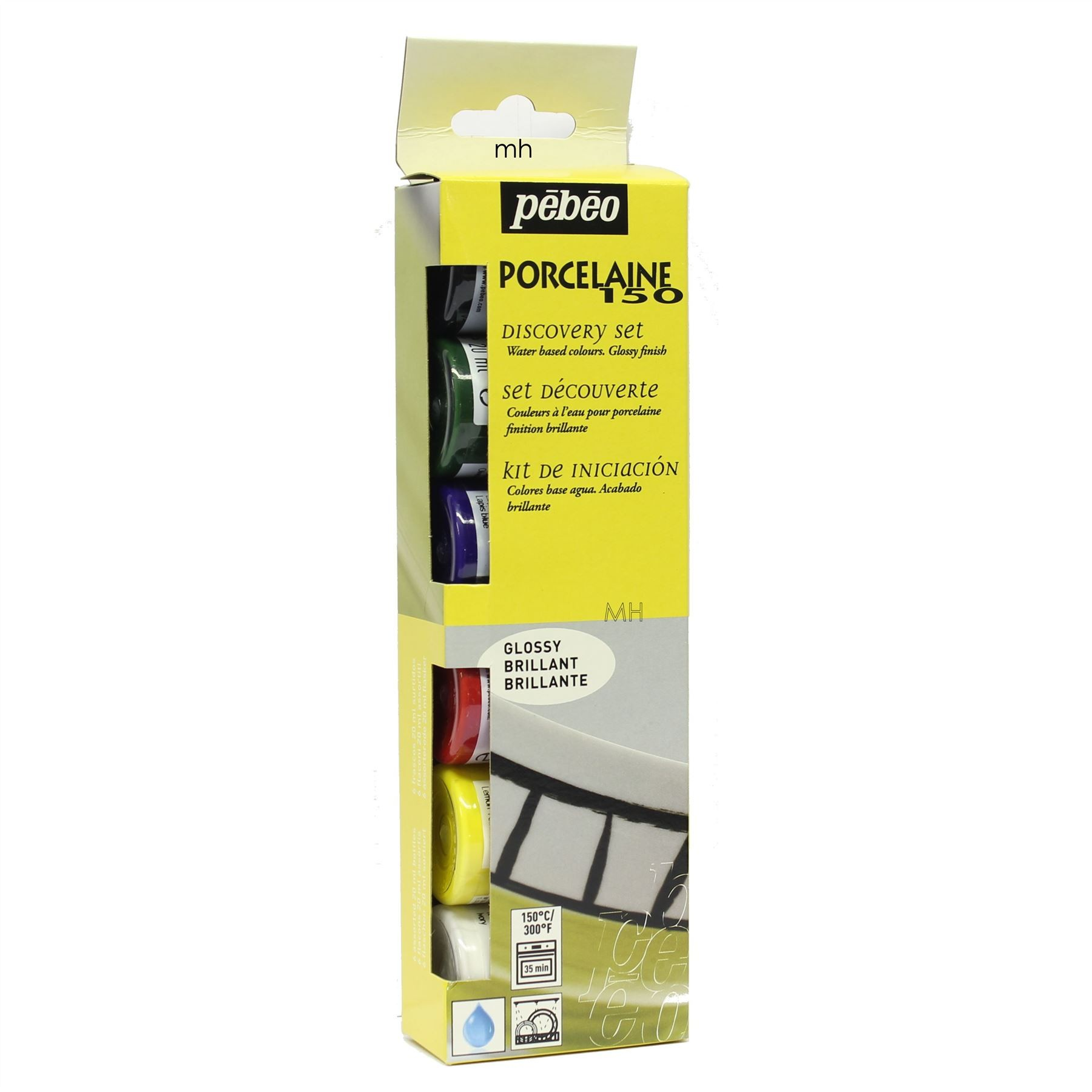 Pebeo Discovery Set 6x20ml Porcelaine 150 Painting on Porcelain