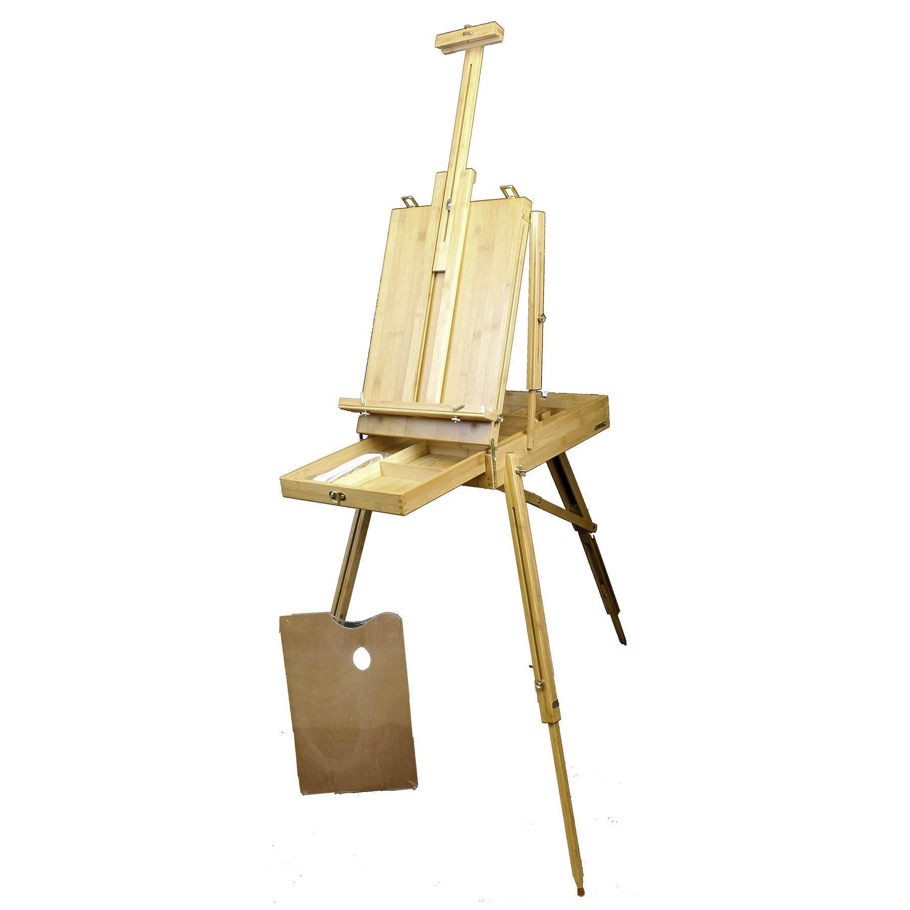 Loxley Artists painting storage and easel made from Eco Friendly Bamboo