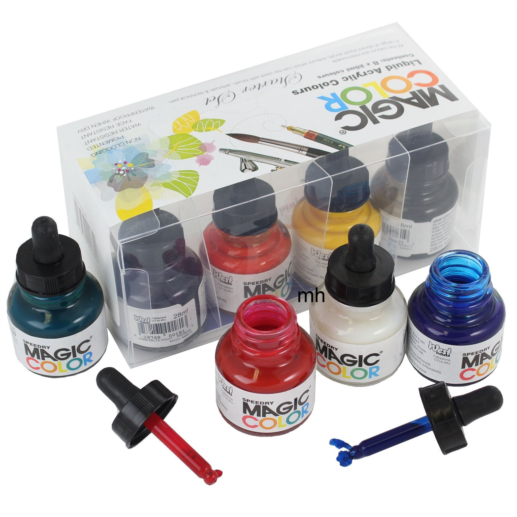 artists colour stater acrylic ink sets of 8