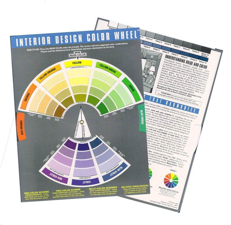 Interior designer colour wheel