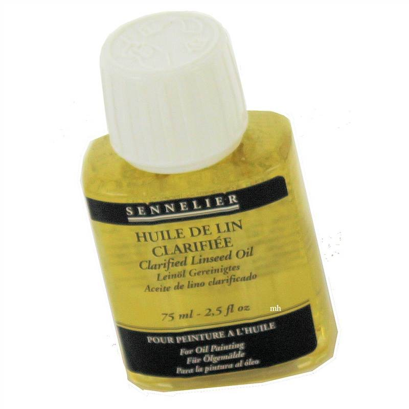 Sennelier Clarified Linseed Oil 75ml Oil Painting