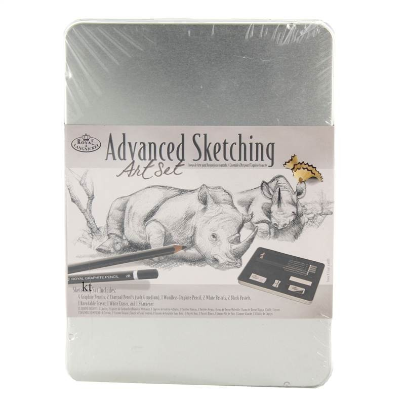 royal & Langnickel sketching drawing pencil tin set