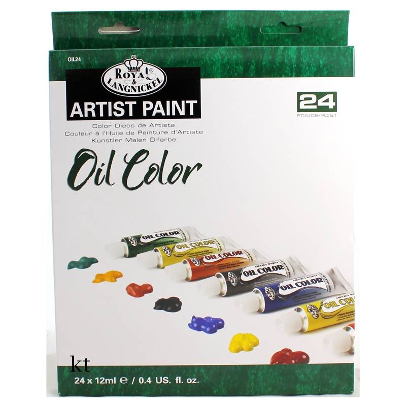 royal & Langnickel 24 student oil paint 12ml tubes