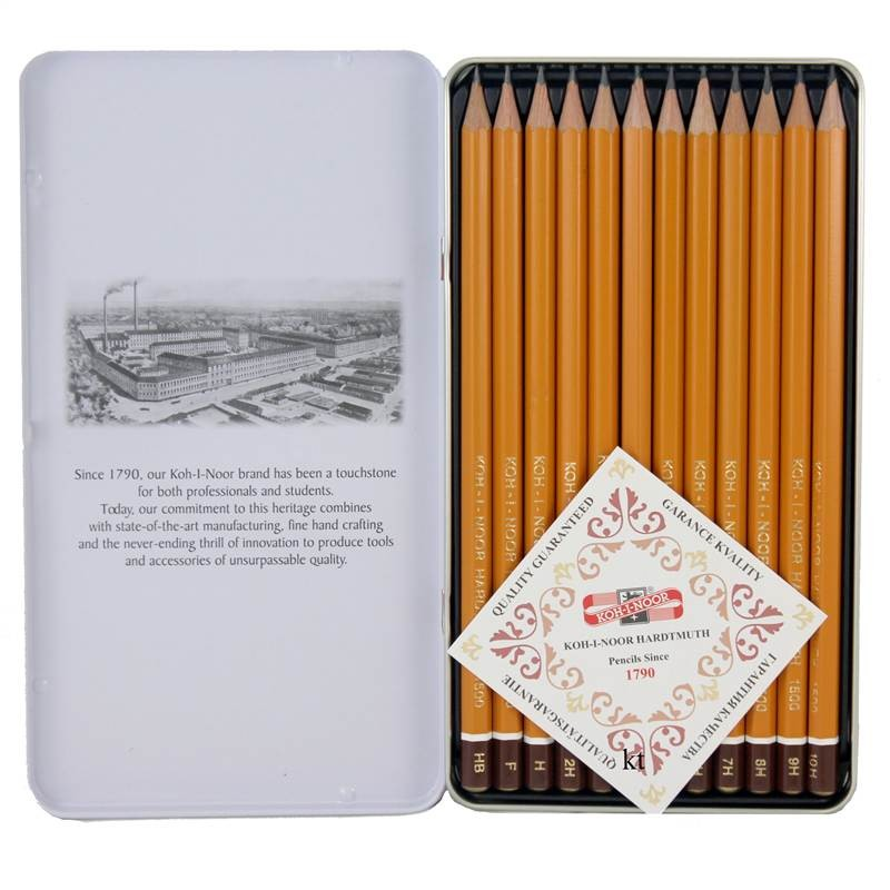 Koh-I-Noor Artists graded soft pencils 8B - 2H