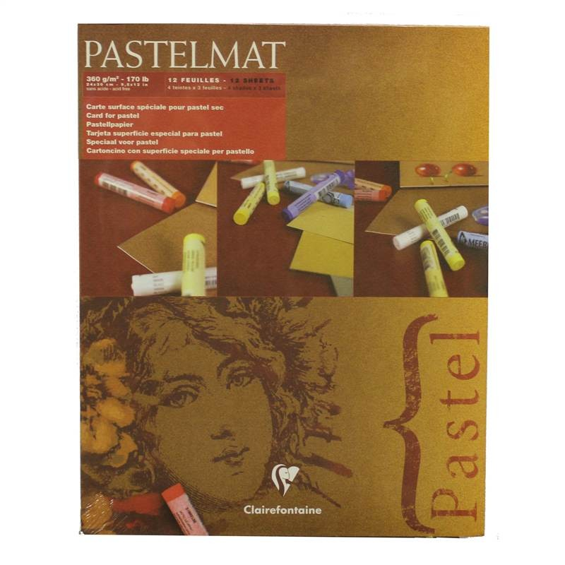 "Clairefontaine Pastelmat Pad 4 Shades 360g 24""x30"" 12 Sheets"