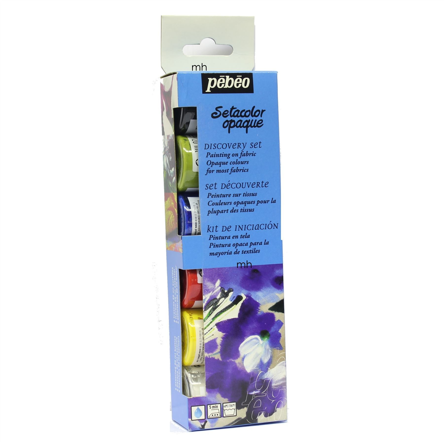 Pebeo Setacolor Opaque Discovery Set Painting on Fabric 6x20ml