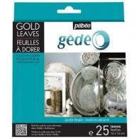 Pebeo Gedeo Silver Finish Leaves 25 14cmx14cm Gilding