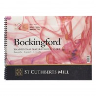 "Bockingford Watercolour Pad Spiral Bound Paper 12 Sheets 14"" x 10"" Hot Pressed"