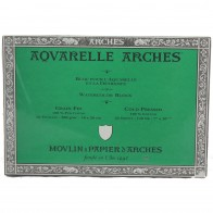 Aquarelle Arches Watercolour Block Cold Pressed 100% Cotton 20 Sheets 7x10""