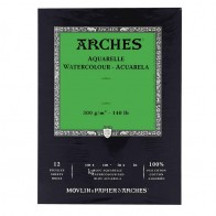 Aquarelle Arches Watercolour Pad Cold Pressed - 12 Sheets - 26x36cm