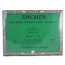 Arches Watercolour Block Cold Pressed - 100% Cotton 20 Sheets 31x41cm