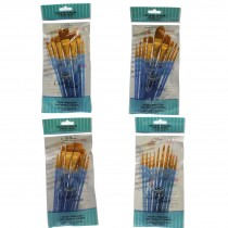Royal & Langnickel artists crafter taklon brush set RCC-300 blue pack