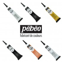 Pebeo Gutta outlining Paint 20ml Tube assorted colours fabric