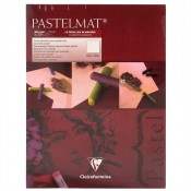 Clairefontaine artists Pastelmat cardboard Pad White 360g 18cnm x24cm 12 Sheets