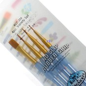 Royal Brush Crafter's Choice Golden Taklon Value Pack - 4pc Variety Set