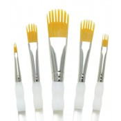 Royal & Langnickel talkon paint brush 5pc Aqualon Wisp Filbert Artists Brush Set