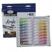 Royal & Langnickel 12ml Set of Acrylic 18 Pieces Paint Set
