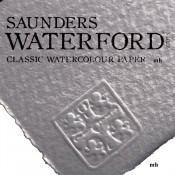 """Saunders Waterford 22"""" x 15"""", 2 sheets 100% cotton white CP 190gsm(90lbs)watercolour paper"""