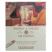 Sennelier Oil Pastels - 24 Portrait Assorted Colours