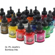 Dr Ph Martin's bombay India Ink 1oz (30ml) single Pots Assorted colours