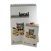 Local Art Pad artists drawing pad 190gsm semi smooth paper pad made in UK A5, A4, or A3