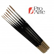 Pro Arte Series 103 Prolene Synthetic Riggers short handle Brushes