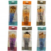 Royal & Langnickel Crafters choice Artists Golden Taklon Paint Brush set RCC-400#