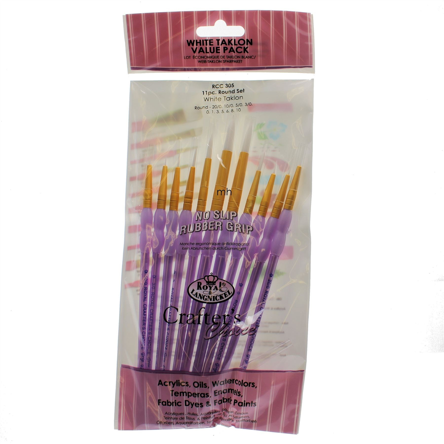 Royal & Langnickel Crafters choice Artists Golden Taklon Paint Brush set RCC-300#