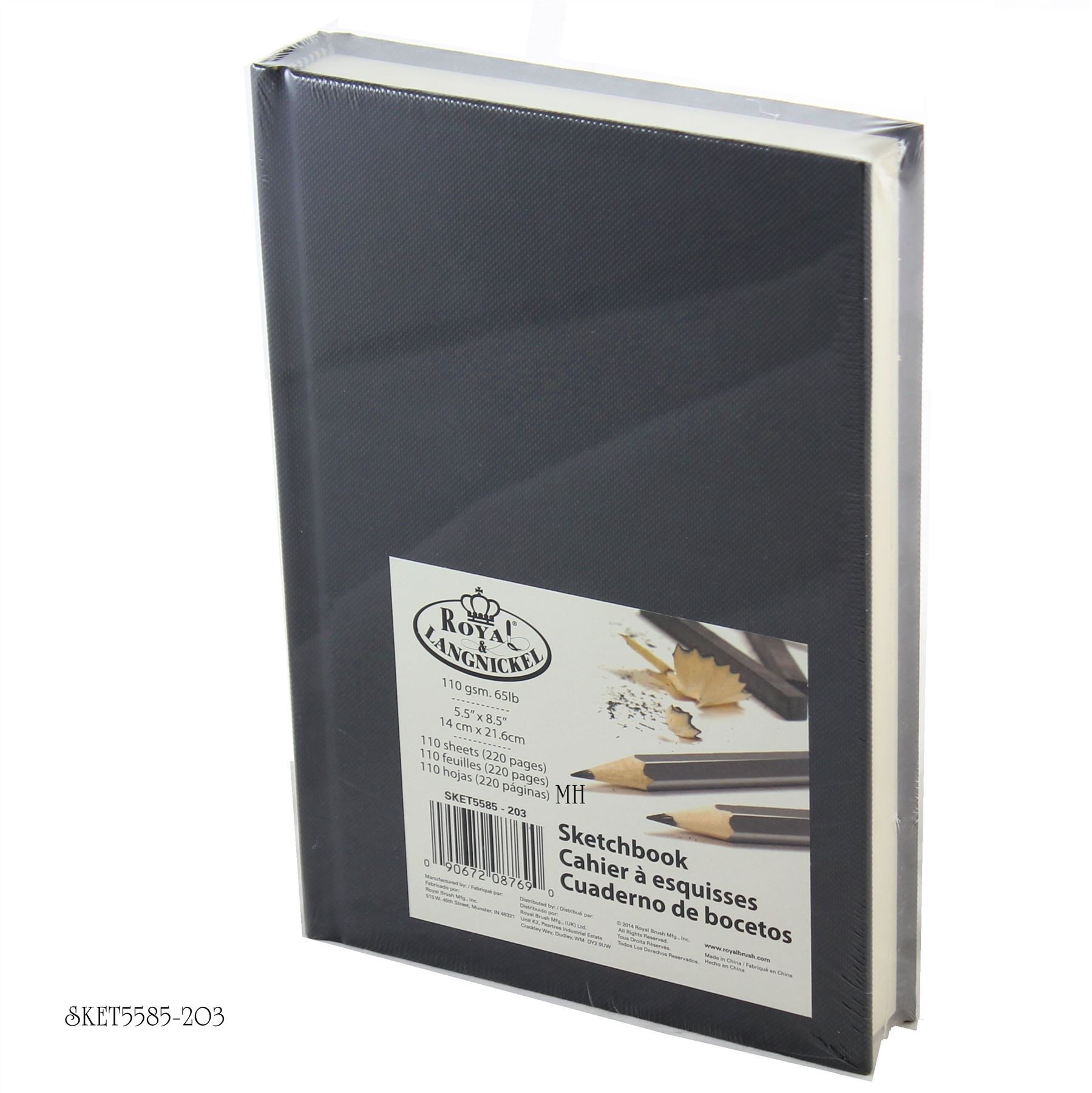 "Royal & Langnickel Sketch Book 8 1/2"" x 5 1/2"" pad Classic coloured cover SKET5585-200'S"
